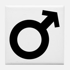 Black Male Sex Symbol Tile Coaster
