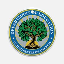 EDUCATION-DEPARTMENT-SEAL Ornament (Round)