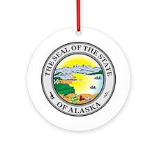 ALASKA-SEAL Ornament (Round)