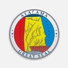 ALABAMA-SEAL Ornament (Round)