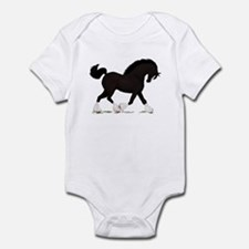 Black Shire with Blaze Infant Bodysuit