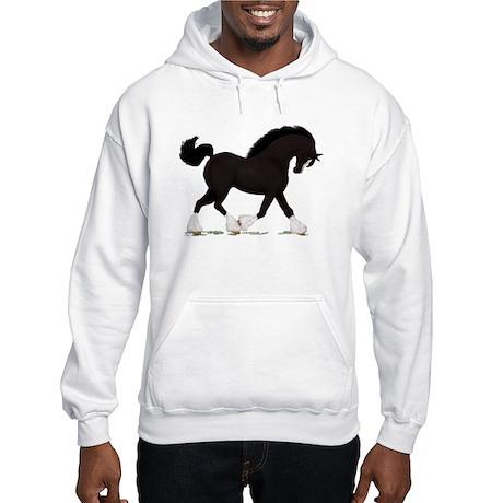 Black Shire with Blaze Hooded Sweatshirt