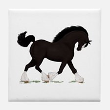 Black Shire with Blaze Tile Coaster