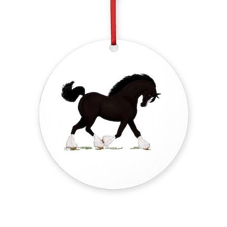 Black Shire with Blaze Ornament (Round)