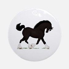 Black Shire with Blaze Ornament (Round)