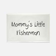Mommy's Little Fisherman Rectangle Magnet