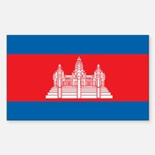 CAMBODIA Rectangle Decal