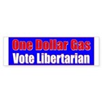 Dollar Gas Bumper Sticker