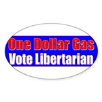 Dollar Gas Oval Sticker (10 pk)