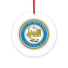 HOUSTON-CITY-SEAL Ornament (Round)