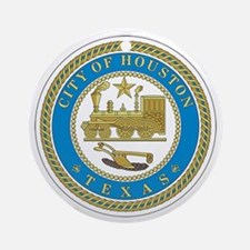 HOUSTON-CITY-SEAL Ornament (Round)