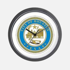 HOUSTON-CITY-SEAL Wall Clock