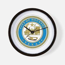 HOUSTON-CITY-SEAL Wall Clock