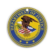 DEPARTMENT-OF-JUSTICE-SEAL Ornament (Round)