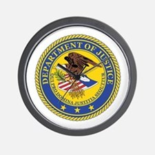 DEPARTMENT-OF-JUSTICE-SEAL Wall Clock