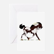 Black Overo Paint Horse Greeting Card