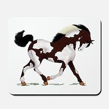 Black Overo Paint Horse Mousepad