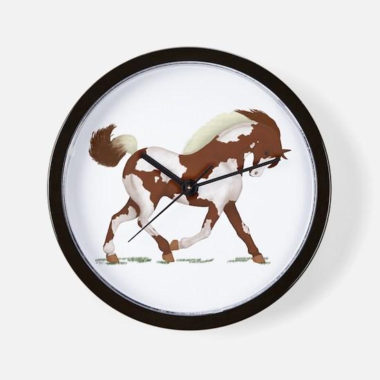 Chestnut Overo Horse Wall Clock
