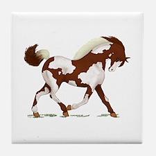 Chestnut Overo Horse Tile Coaster