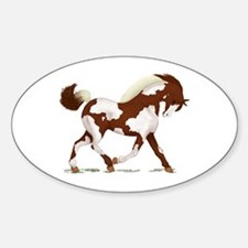Chestnut Overo Horse Oval Decal