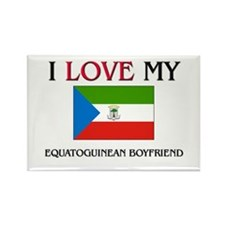 I Love My Equatoguinean Boyfriend Rectangle Magnet