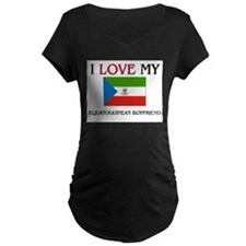 I Love My Equatoguinean Boyfriend T-Shirt