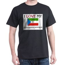 I Love My Equatoguinean Boyfriend T-Shirt