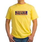 1 Dollar Gas Yellow T-Shirt
