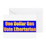 1 Dollar Gas Greeting Card
