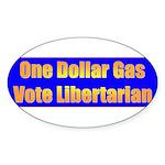 1 Dollar Gas Oval Sticker
