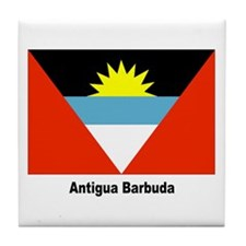 Antigua Barbuda Flag Tile Coaster