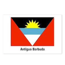 Antigua Barbuda Flag Postcards (Package of 8)