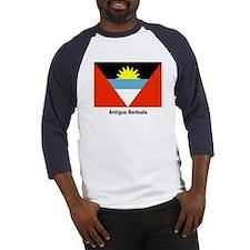 Antigua Barbuda Flag (Front) Baseball Jersey