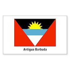 Antigua Barbuda Flag Rectangle Decal