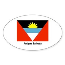 Antigua Barbuda Flag Oval Decal