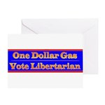 One Dollar Gas Greeting Card