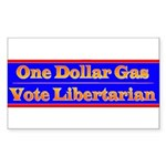 One Dollar Gas Rectangle Sticker