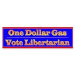 One Dollar Gas Bumper Sticker