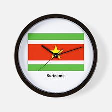 Suriname Flag Wall Clock