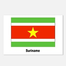 Suriname Flag Postcards (Package of 8)