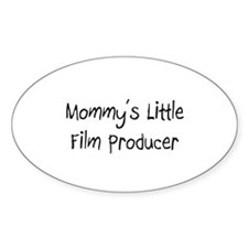 Mommy's Little Film Producer Oval Decal