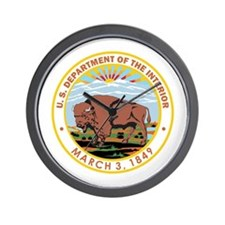 DEPARTMENT-OF-THE-INTERIOR- Wall Clock