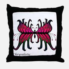 Pink Blossom Butterfly Throw Pillow