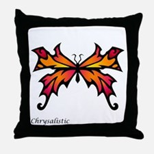 Orange Sunset Butterfly Throw Pillow