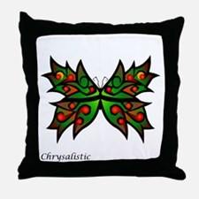 Holly Butterfly Throw Pillow