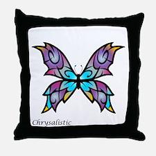 Freesia Butterfly Throw Pillow