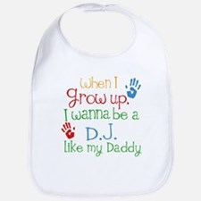DJ Like Daddy Baby Bib