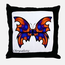Cobalt Butterfly Throw Pillow