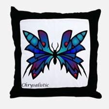 Blue Moonglow Butterfly Throw Pillow