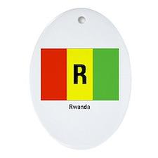 Rwanda Flag Keepsake (Oval)